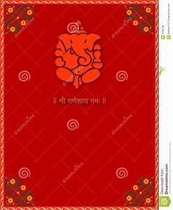 shree ganesha card template stock illustration With wedding invitation templates with ganesh