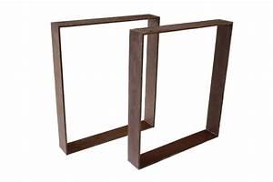 Tischgestell Metall Schwarz : tischbeine tischgestell aus stahl rost tb103 der tischonkel ~ Frokenaadalensverden.com Haus und Dekorationen