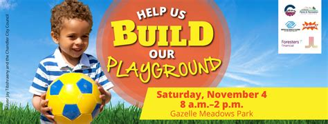 Build Help by Help Us Build Our Playground Volunteer Caign For City