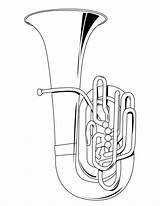Coloring Tuba Musical Sheets Instruments Instrument Pages Drawing Colouring Dessin Brass Collage Names Artist Activities Printable Hellokids Drawings Musique Des sketch template