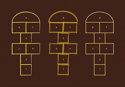 Hopscotch Livre Gratuit Marelle Motifs Clipart Graphics