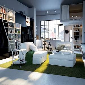 Big design ideas for small studio apartments for Small studio apartment interior design