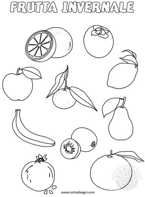 frutta invernale da colorare tuttodisegnicom