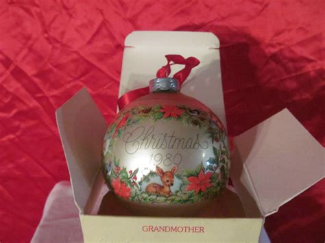 hallmark ornaments 1980 grandmother 1980 ornament glass by hallmark ebay