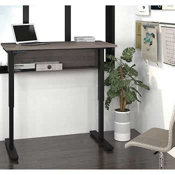costco height adjustable desk bestar 39 s uptown digital 24 quot x48 quot height adjustable table