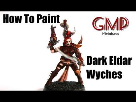 How To Paint Dark Eldar Wyches Youtube