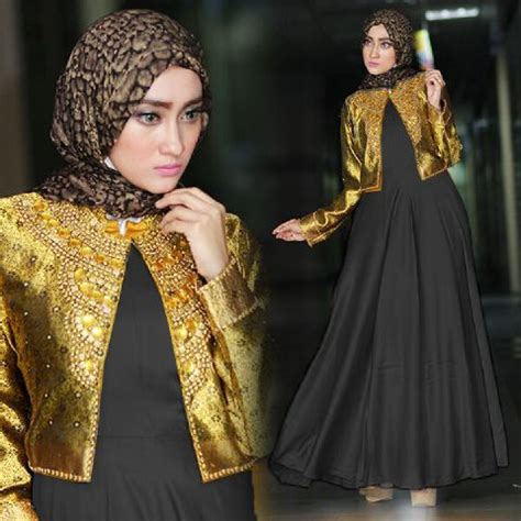 renda bordir kerancang baju pesta a215c satin payet busana muslim dian pelangi