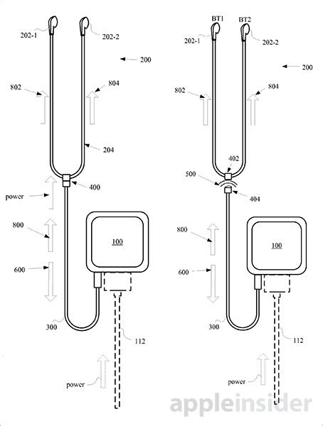 apple patents magnetically detachable wireless earbuds for iphone