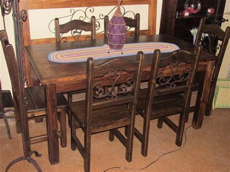 juego de comedor rustico madera maciza  en