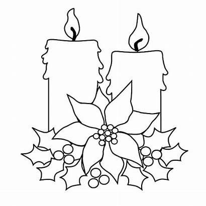 Coloring Christmas Candle Tree Pages Drawing Decorating
