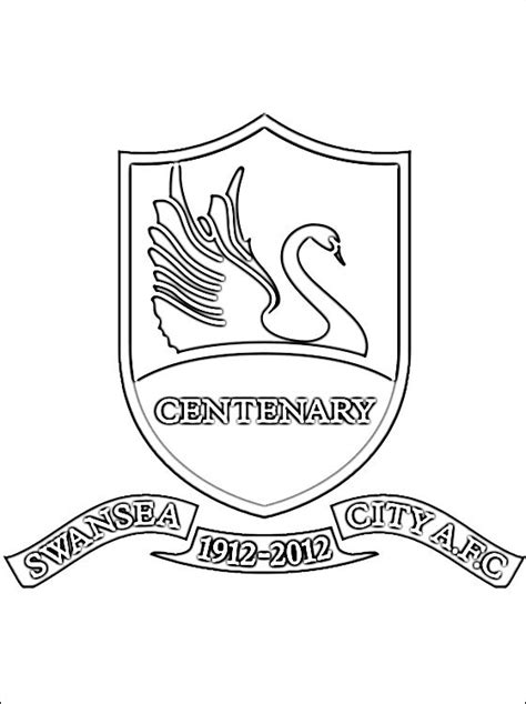 coloring page swansea city afc coloring pages