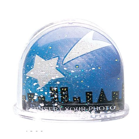 snow glitter dome shaped water globe removable plate 3