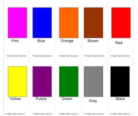 Printable Color Flash Cards With Words  Printableflashcardscom Printableflashcardscom
