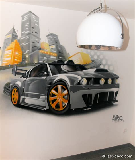 chambre voiture garcon chambre mustang tuning greg deco