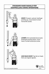 Standard Hand Signals For Controlling Crane Operations