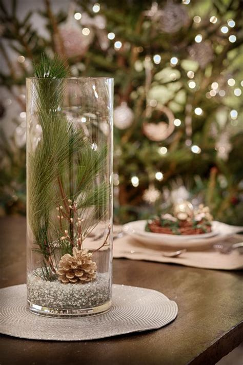 Glass Vase Centerpiece Ideas by Wintery Centerpiece Crafty Winter Centerpieces