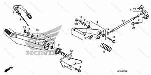Honda Motorcycle 2010 Oem Parts Diagram For Pedal