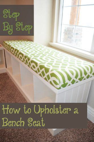 step  step   upholster  bench seat diy home