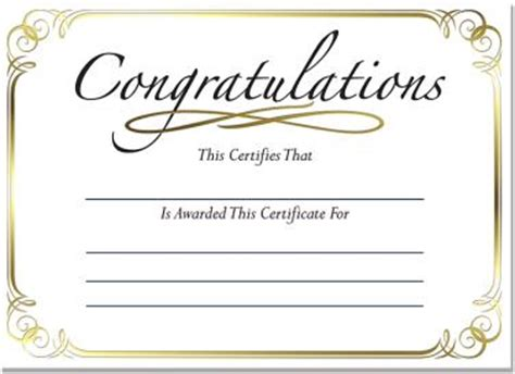 mini gold foil certificates congratulations foil certificate