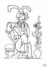 Alice Wonderland Hatter Mad Cartoon Drawing Coloring Pages Getdrawings sketch template