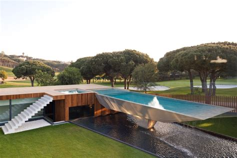 cantilevered pool designs   views justice