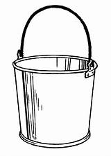 Bucket Coloring Drawing Paint Clipart Clip Sketch Pages Line Template Templates Library Popular Azcoloring sketch template