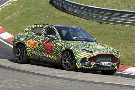 aston martin dbx suv snapped   nurburgring