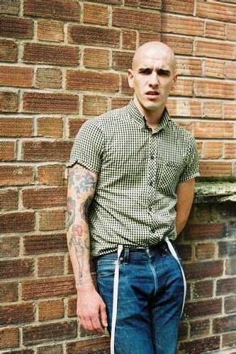 vintage street style photography skinhead  tattoos