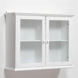 etagere vitrine en pin massif perrine la redoute With deco cuisine pour meuble vitrine