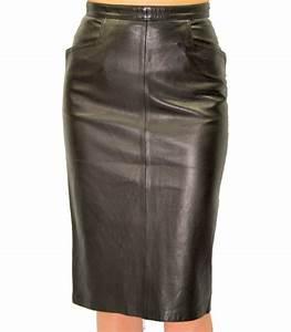 Jupe Crayon Noir : jupe longue cuir crayon agneau couleur noir mod le milady haut de gamme existe en grande taille ~ Preciouscoupons.com Idées de Décoration