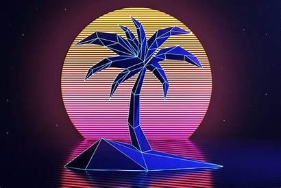 Neon Retro Desktop Reddit Palm Aesthetic Background