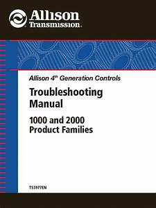 Allison Transmission Ts3977en Troubleshooting Manual 4th