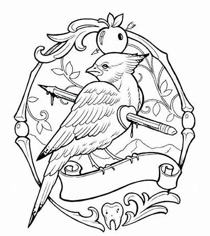 Coloring Tattoo Pages Cool Printable Skull Project