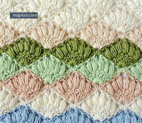 shell stitch crochet crochet shell stitch shells and stitches on pinterest
