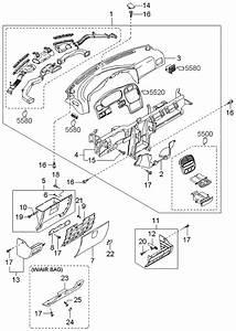 2001 Kia Sportage Dashboard Related Parts