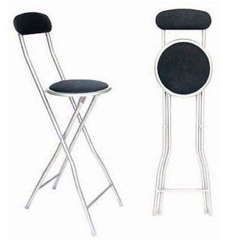 chaise de bar pliable black folding breakfast bar stool kitchen office padded high chair ebay