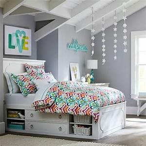 44 super idees pour la chambre de fille ado for Attractive commentaire faire une couleur beige 7 chambre en bleu et blanc