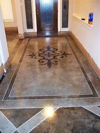 how to stain concrete floors Acid Stained Concrete Floors. Dark sections are full strength acid stain. Light sections are ...