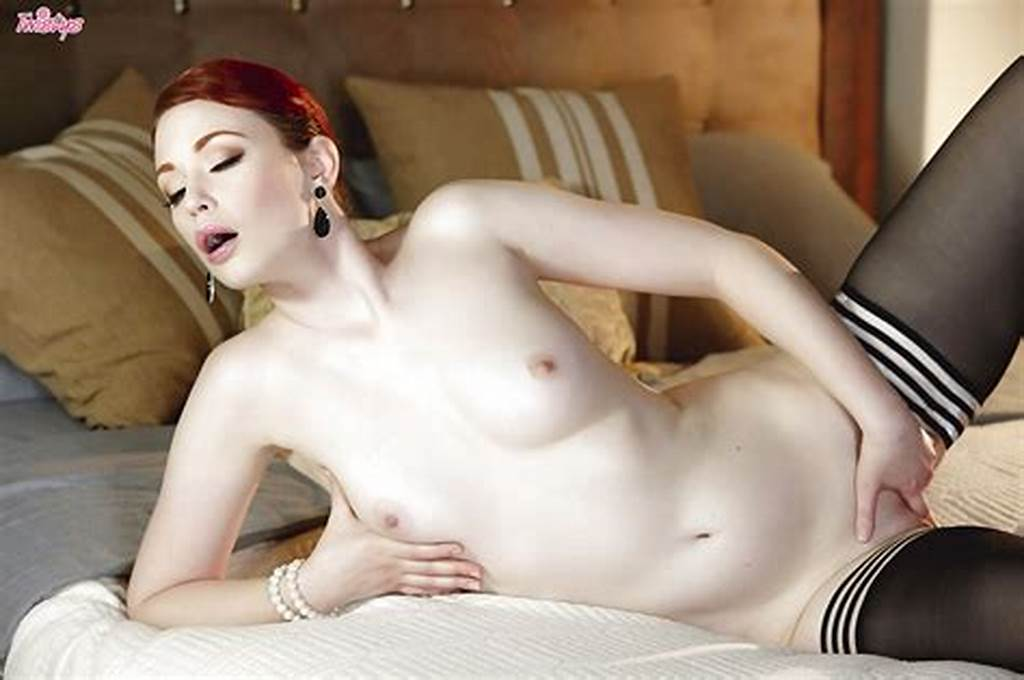 #Stocking #Attired #Redhead #Babe #Justine #Joli #Flaunting #Milf