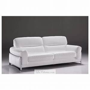 Canapé Blanc Design : canap cuir blanc nantes et canap s en cuir italien satis ~ Teatrodelosmanantiales.com Idées de Décoration