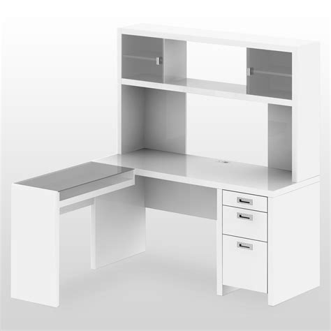 white l shaped desk with drawers furniture l shaped white wooden corner desk with hutch