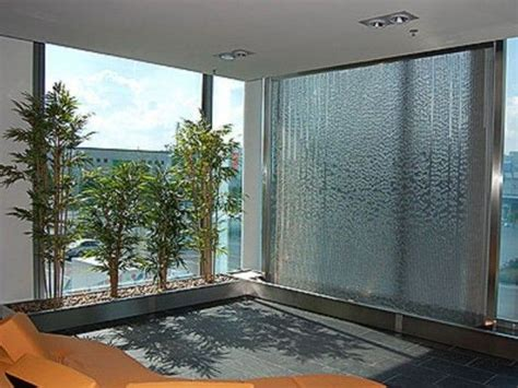 interior glass walls for homes 50 soothing indoor water features home ideas