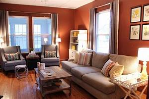 Warm living room love the wall color blank slate for Warm wall colors for living rooms