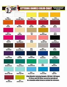 1 shot paint 134 chrome yellow With one shot lettering enamel color chart