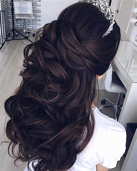 Half Hairstyles Hair by Half Up Half Wedding Hairstyle Partial Updo Bridal