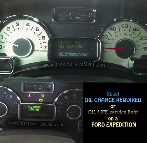 reset oil change light reset oil service light ford expedition reset service