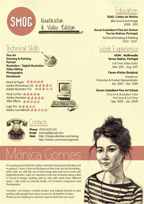 50 Awesome Resume Designs That Will Bag The Job  Hongkiat. Warehouse Assistant Resume Sample. Resumes Samples For High School Students. What Kind Of Skills Do I Put On A Resume. Sample Resume For Professional. Accounts Resume Samples. Sample Auditor Resume. Sample Resume Nurse Practitioner. Scholarship Resume Samples