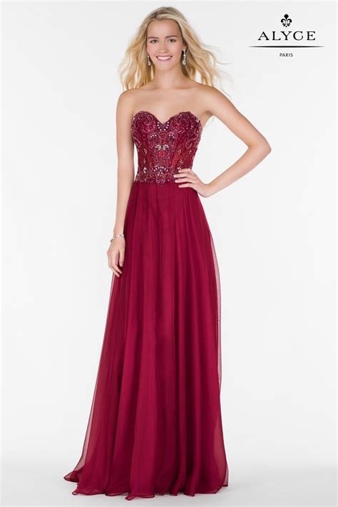 Alyce Paris 6688 Corset Bodice Prom Dress: French Novelty