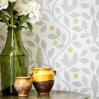 Sanderson Damson Tree Wallpapers Potting Botanical Library