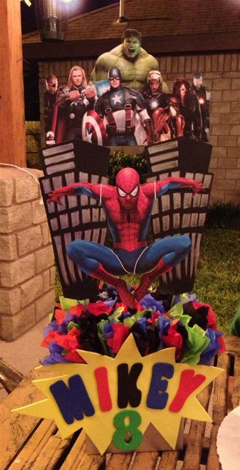 spider man avengers centerpiece kids party superhero